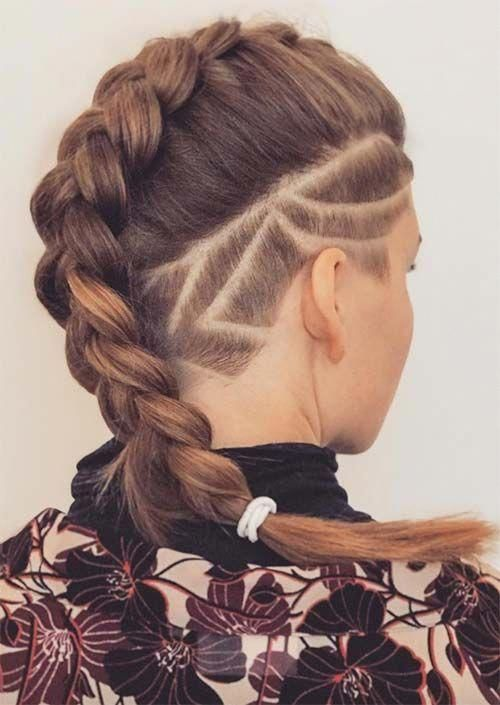 Picture Of An Undercut Long Bob With Rather A Natural Hair Color