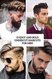 edgy and bold undercut haircuts