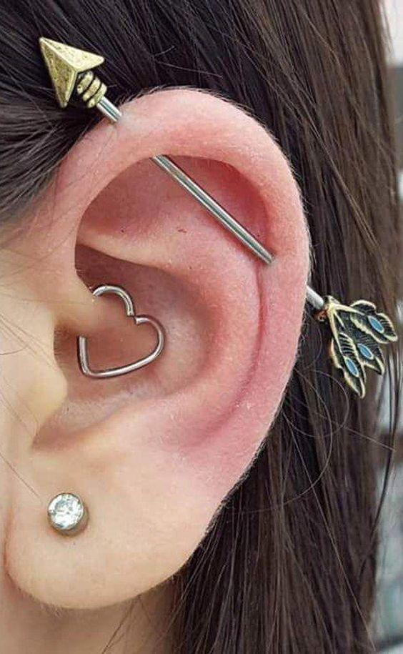 15 Industrial Piercing Ideas That Rock - Styleoholic