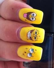 funny cartoon nail art design