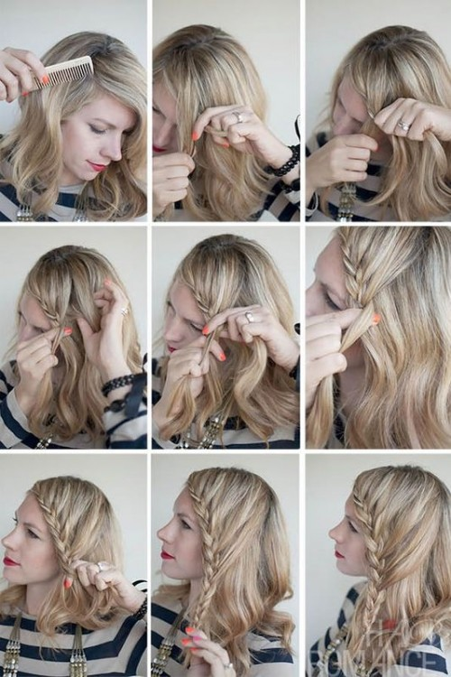 Charming DIY Lace Braid Hairstyle Styleoholic