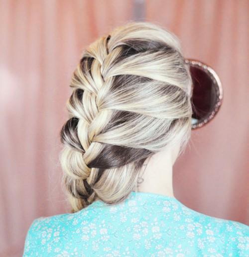 DIY Elsa French Braid Hairstyle From Frozen  Styleoholic