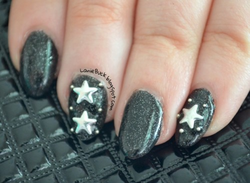 Diy Starry Night Sky Nail Art With Studs