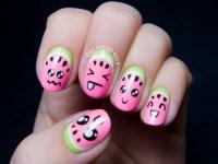 Super Cute DIY Watermelon Nail Art - Styleoholic