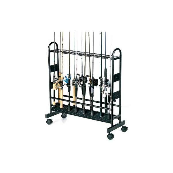 Organized Fishing CMR 16-Rod Metal Rolling Rod Rack