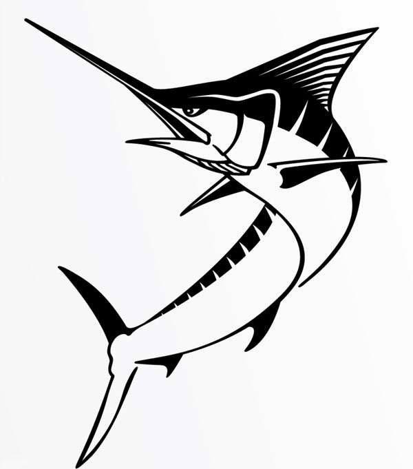 Steelfin Marlin Decals Black
