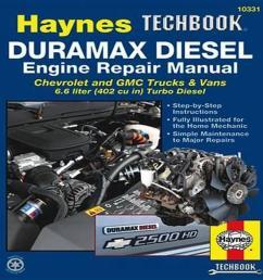 duramax diesel engine repair manual chrevrolet and gmc trucks vans 6 6 liter 402 [ 1000 x 1000 Pixel ]