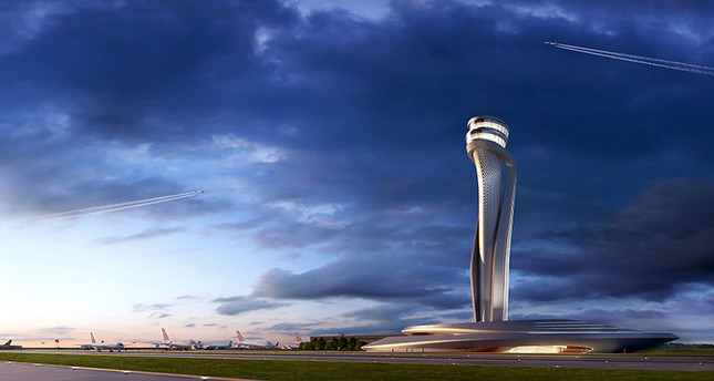 Istanbuls 3rd airports air control tower to have tulip-inspired design