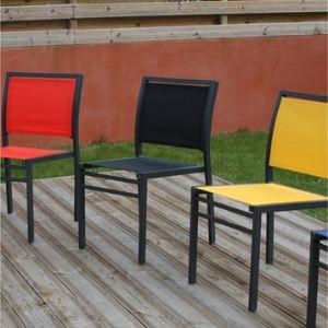 dcb garden chaise de jardin empilable