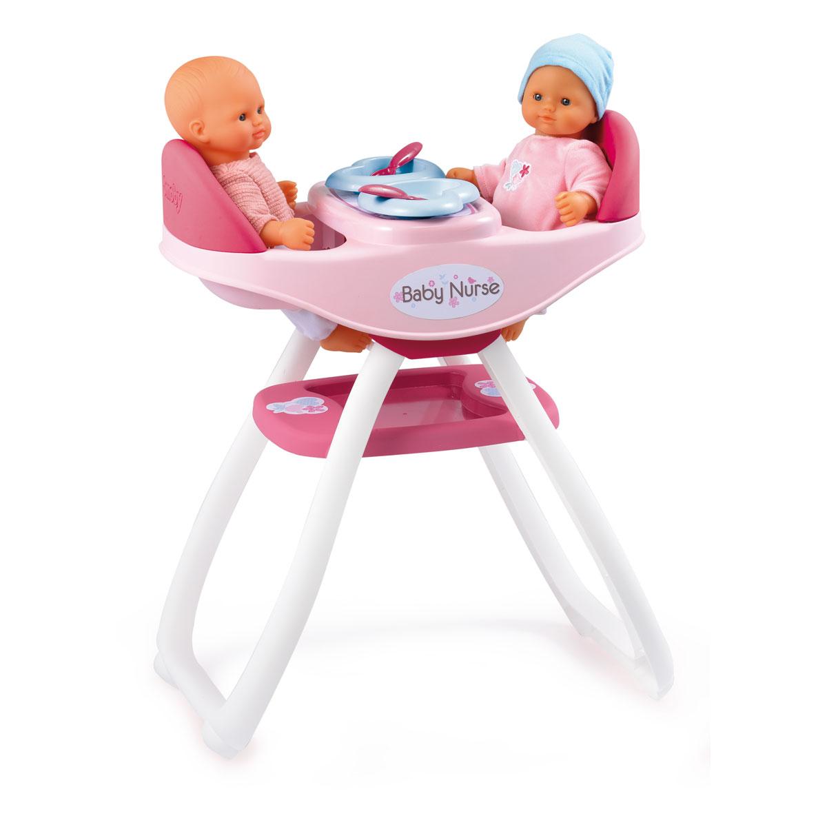 smoby chaise haute pour poupons jumeaux comparer avec touslesprix com