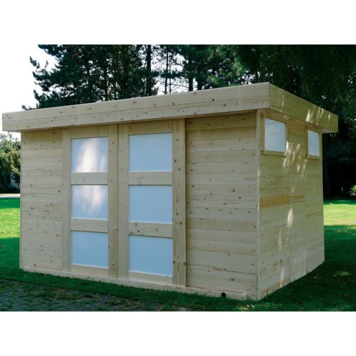 abri de jardin sjobo en bois 19 mm avec