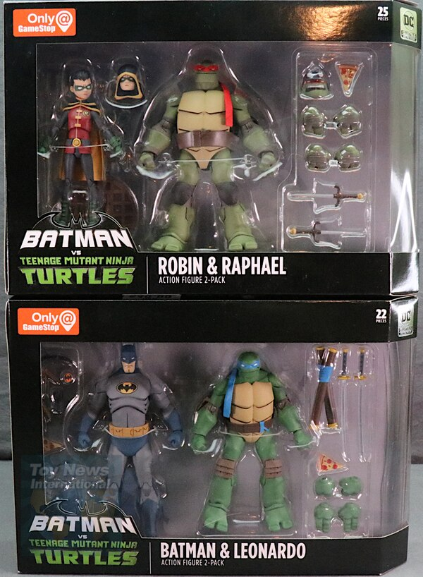 Batman And Tmnt Figures : batman, figures, Batman, Leonardo, Robin, Raphael, 2-Packs, Review