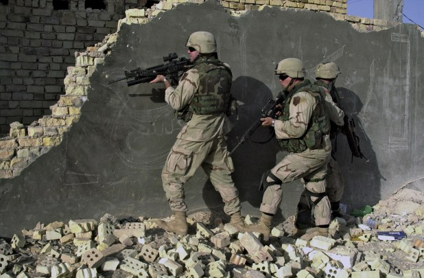 US soldiers in Iraq, 2002. [Photo: US Department of Defense]