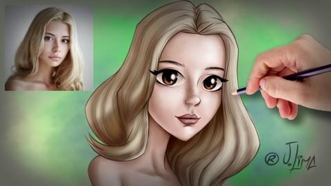 Transformando pessoas reais em personagens disney e anime