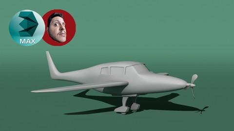 Modelando um avião no 3DS MAX.