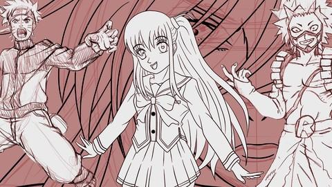Curso básico de manga desenho de personagens