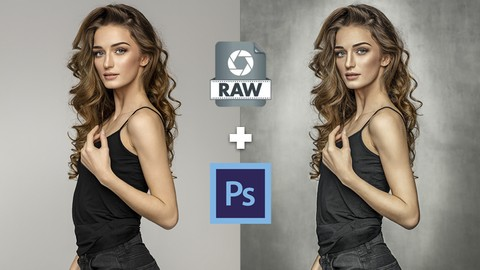 Retoque comercial de Retrato  para iniciantes ( Raw+Ps )