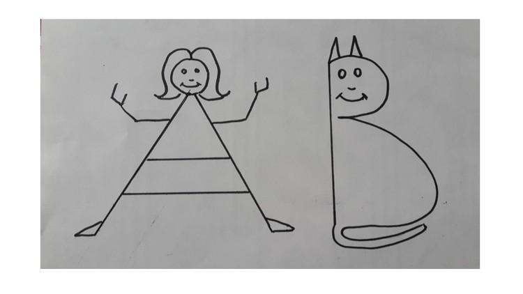 make drawings a b