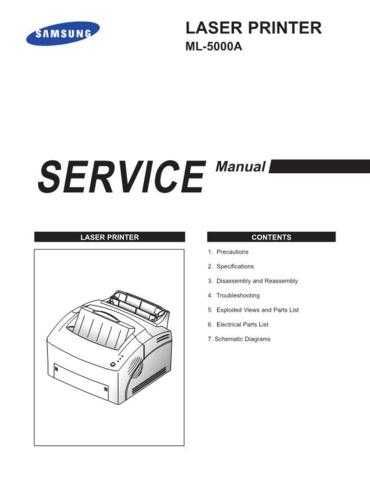 Samsung ML 5000A XEC41226101 Manual by download #164476