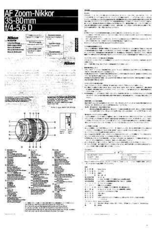 NIKON Nikkor 35-80mm Instruction Manual by download