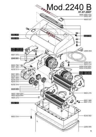 Office Equipment IDEAL 2240 B SHREDDER PARTS by download