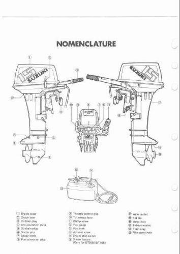 Suzuki DT9.9 DT9.9K DT15 DT15K DT15C Outboard Motor