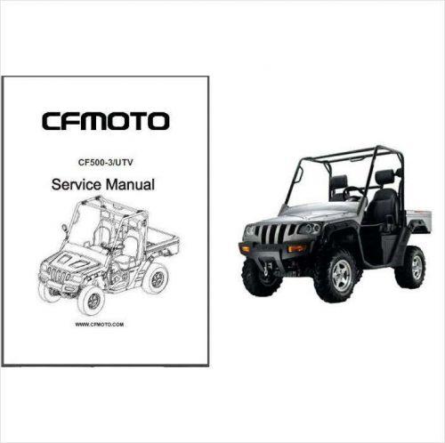 CFMoto CF500-3 Rancher UTV Service Repair Manual CD .. CF