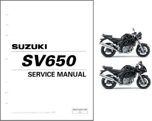 03-09 Suzuki SV650 SV650S Service Repair Shop Manual CD