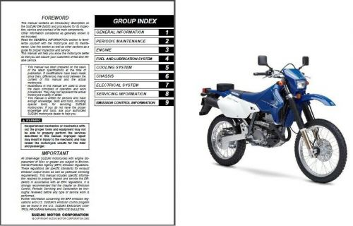 00-09 Suzuki DR-Z400S Service Repair Workshop Manual CD