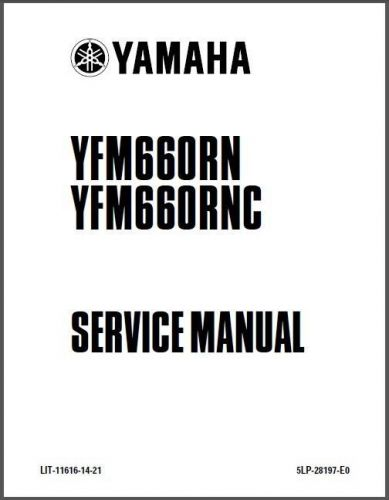 01-05 Yamaha YFM660R Raptor 660 ATV Service Repair Manual