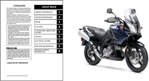 02-09 Suzuki DL1000 V-Strom Service Repair & Parts Manual