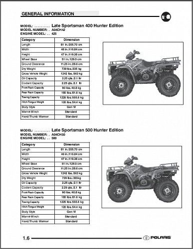 2004 Polaris Sportsman 400 / Sportsman 500 ATV Service