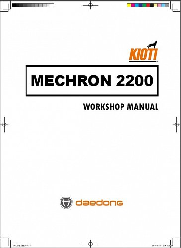 Kioti Mechron 2200 UTV Service Repair Workshop Manual on a