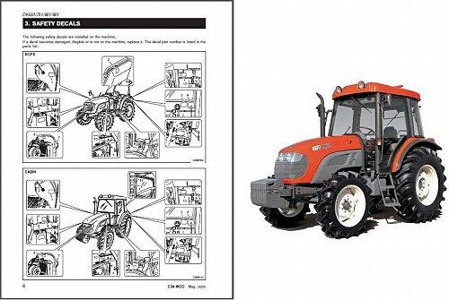 Kioti DK651 DK751 DK801 DK901 Tractor Repair Service