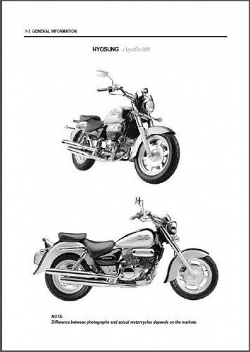 Hyosung Aquila 250 ( GV250 ) Service Manual CD