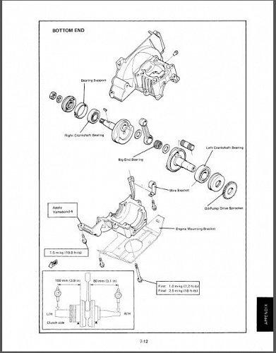 1995-2005 Yamaha BR250 Bravo 250 Snowmobile Service Repair