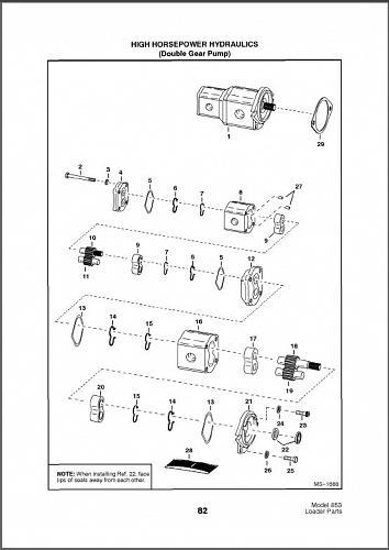 Bobcat 853 Skid Steer Loader Parts Manual on a CD For Sale