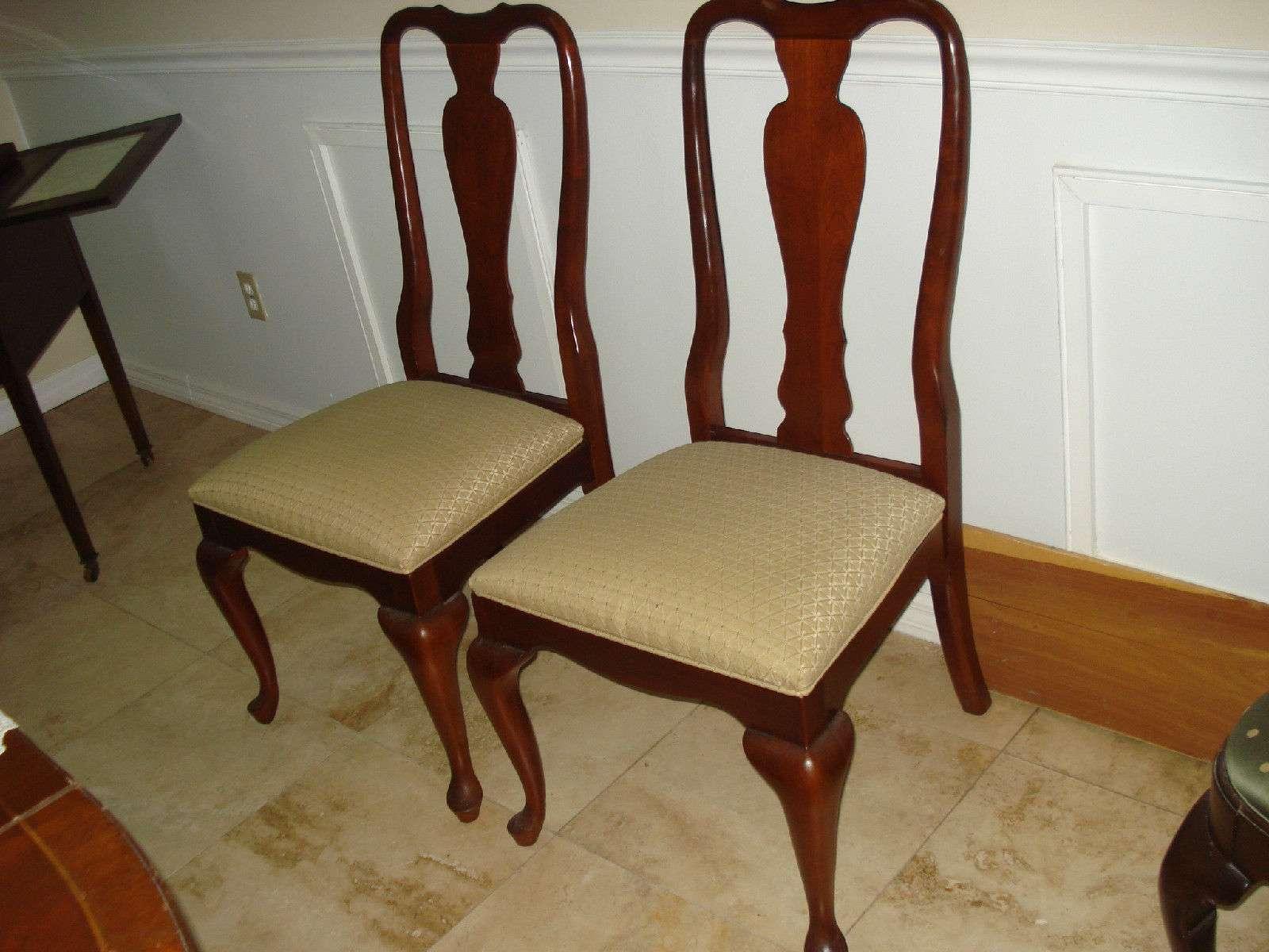 queen anne side chairs cherry beach wheelchair wheels ethan allen dining chair georgian court