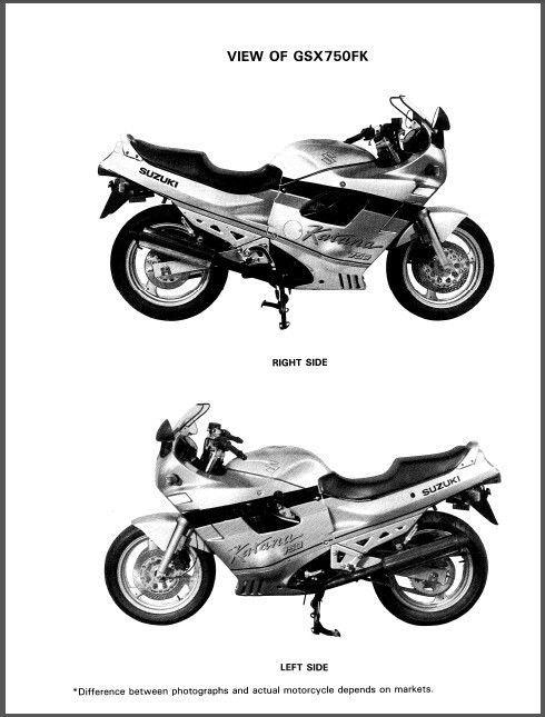 89-97 Suzuki GSX750F Katana Service Repair Workshop Manual