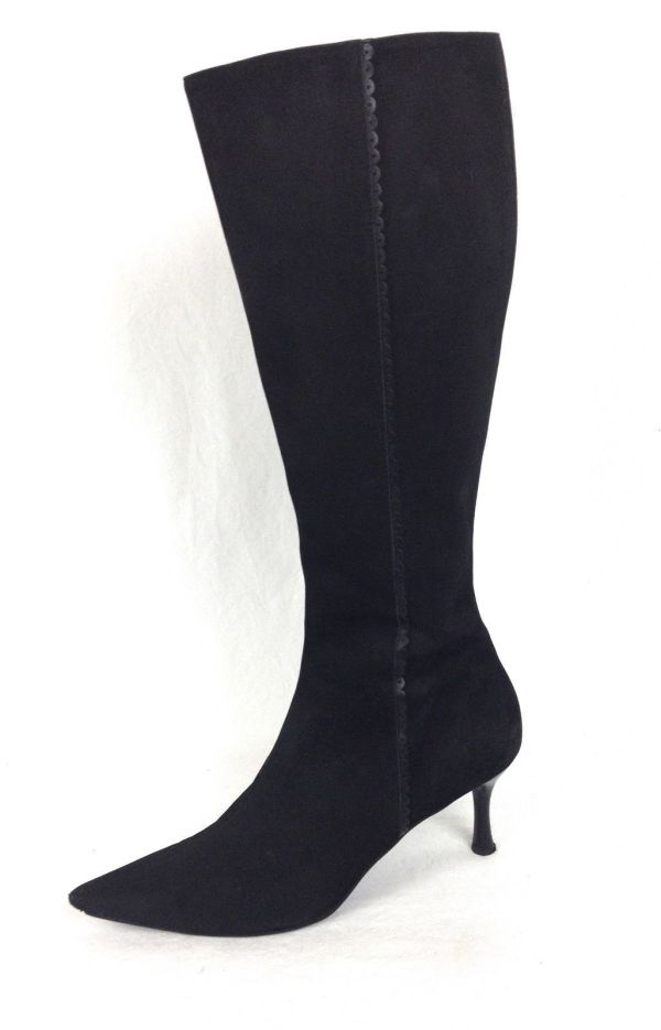 Ann Taylor Shoes 7.5 Womens Black Leather Boots