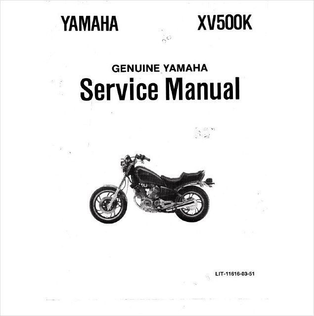 1983-1987 Yamaha Virago XV500 Service Repair Workshop