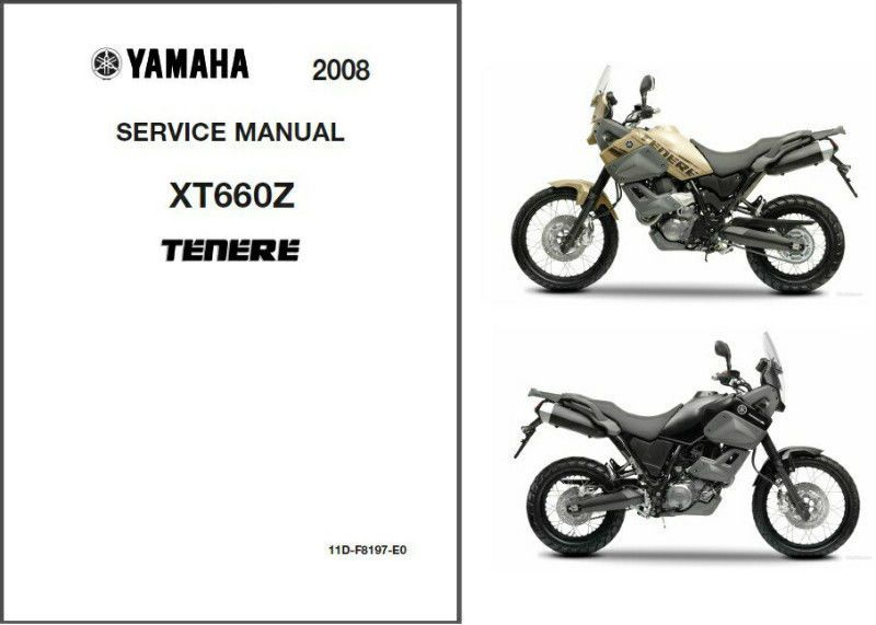 2008-2014 Yamaha XT660Z Tenere Service Repair Manual CD