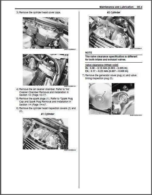 09-14 Suzuki VZ1500 Intruder M1500 / Boulevard M90 Service