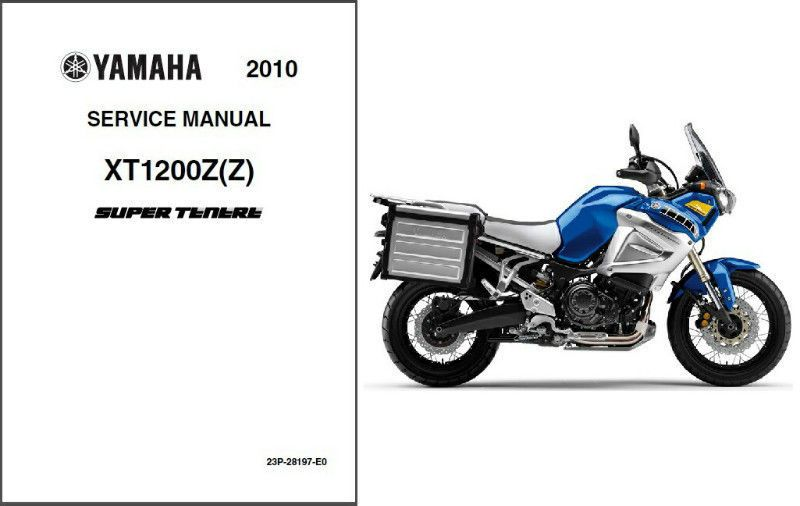 10-11 Yamaha XT1200Z Super Tenere Service Repair Manual CD