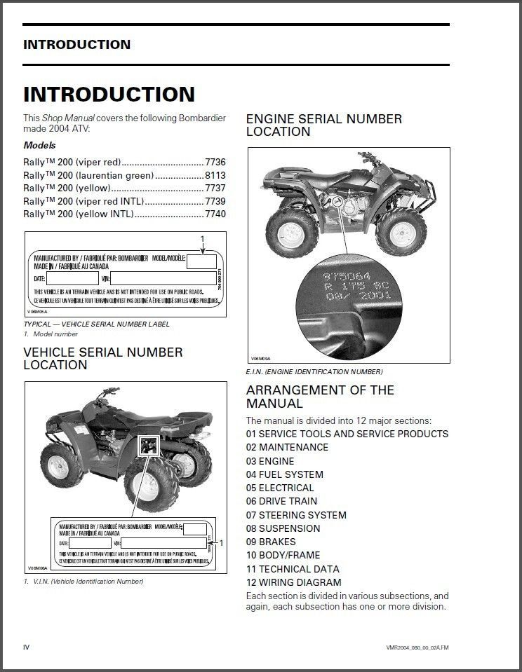 2004 Can-Am Rally 200 ATV Service Repair Shop Manual CD