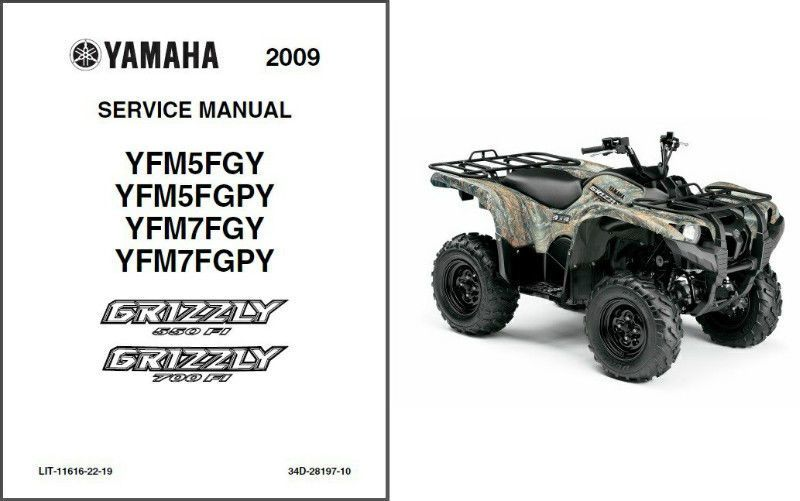 09-11 Yamaha Grizzly 550 FI / 700 FI ATV Service Repair