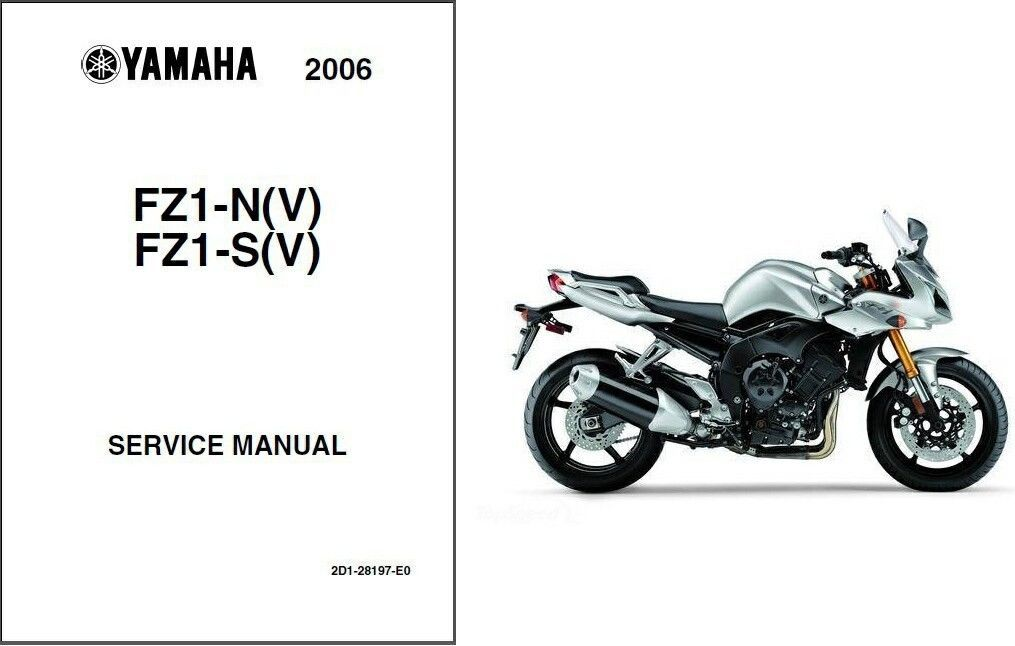 06-11 Yamaha FZ1 Fazer 1000 Service Repair Manual CD