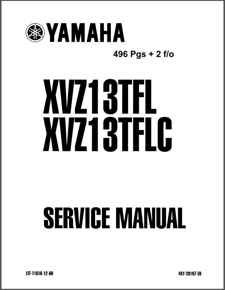 1999-2010 Yamaha Royal Star Venture 1300 Service Repair