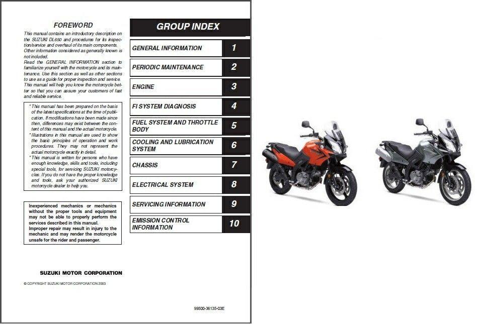 04-09 Suzuki DL650 V-Strom Service Repair Workshop Manual