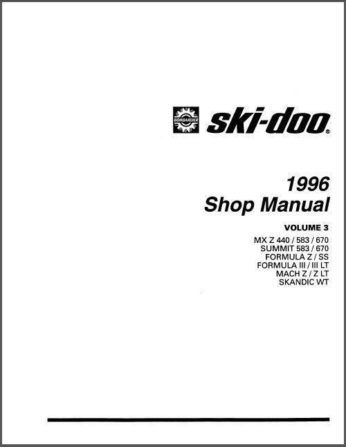 1996 Ski-Doo MX Z Summit Formula Scandic Mach Service